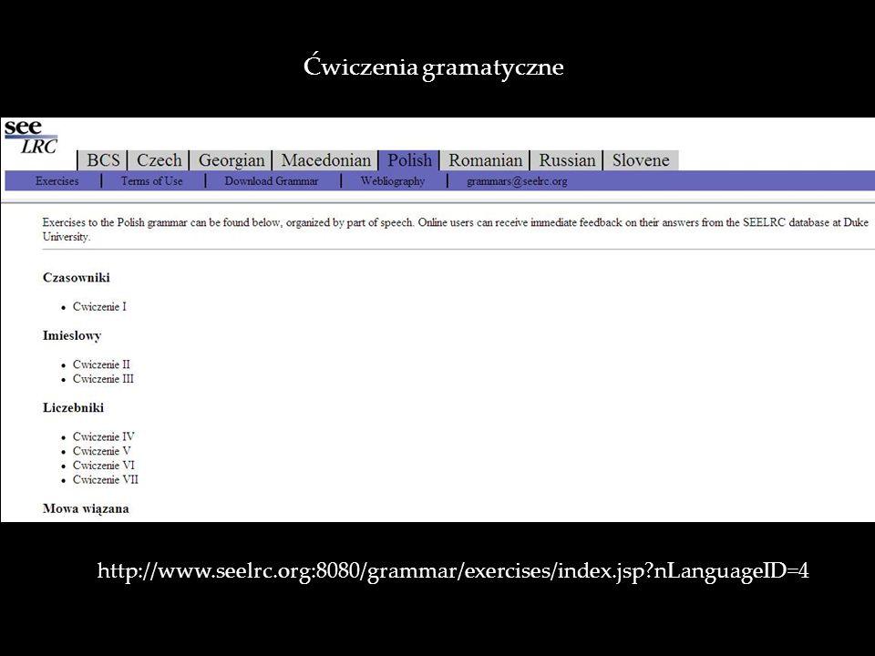 Ćwiczenia gramatyczne