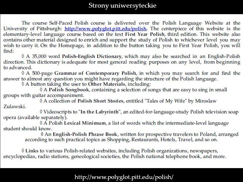 Strony uniwersyteckie