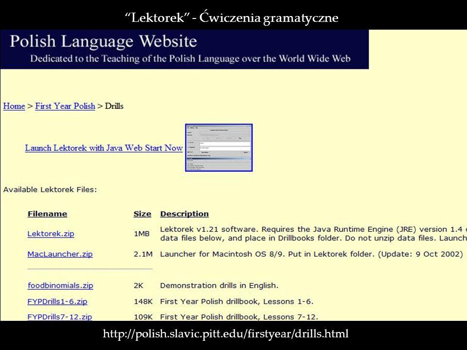Lektorek - Ćwiczenia gramatyczne