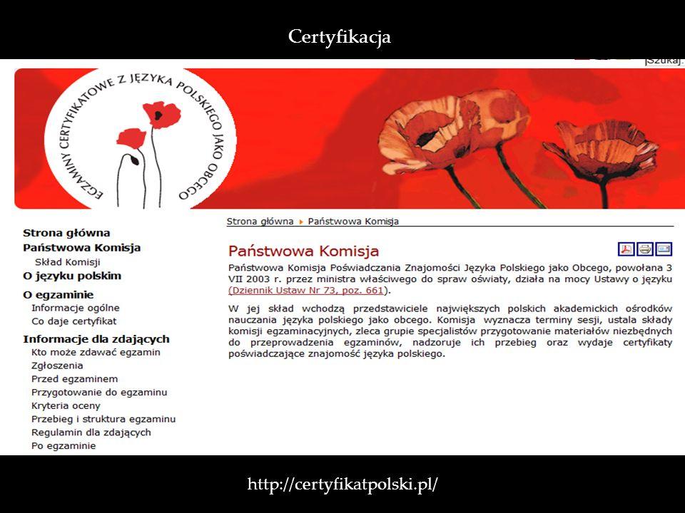 Certyfikacja http://certyfikatpolski.pl/