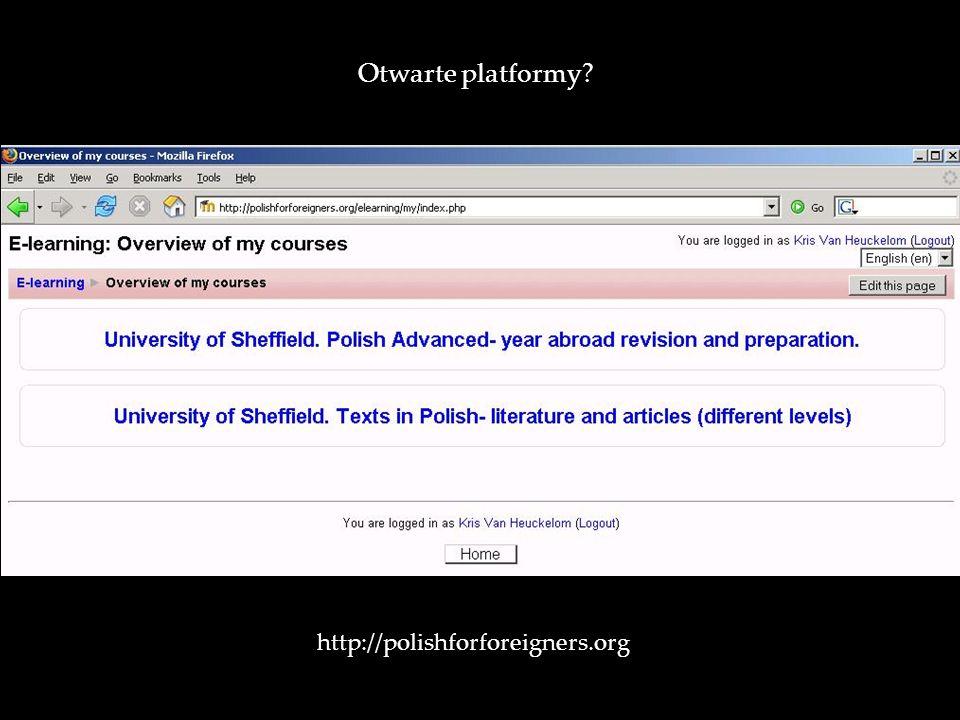 Otwarte platformy http://polishforforeigners.org/