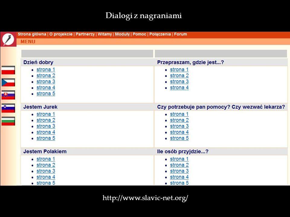 Dialogi z nagraniami http://www.slavic-net.org/