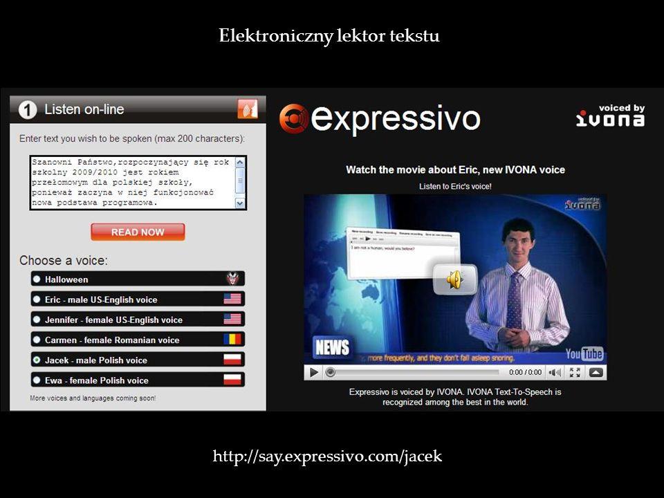 Elektroniczny lektor tekstu
