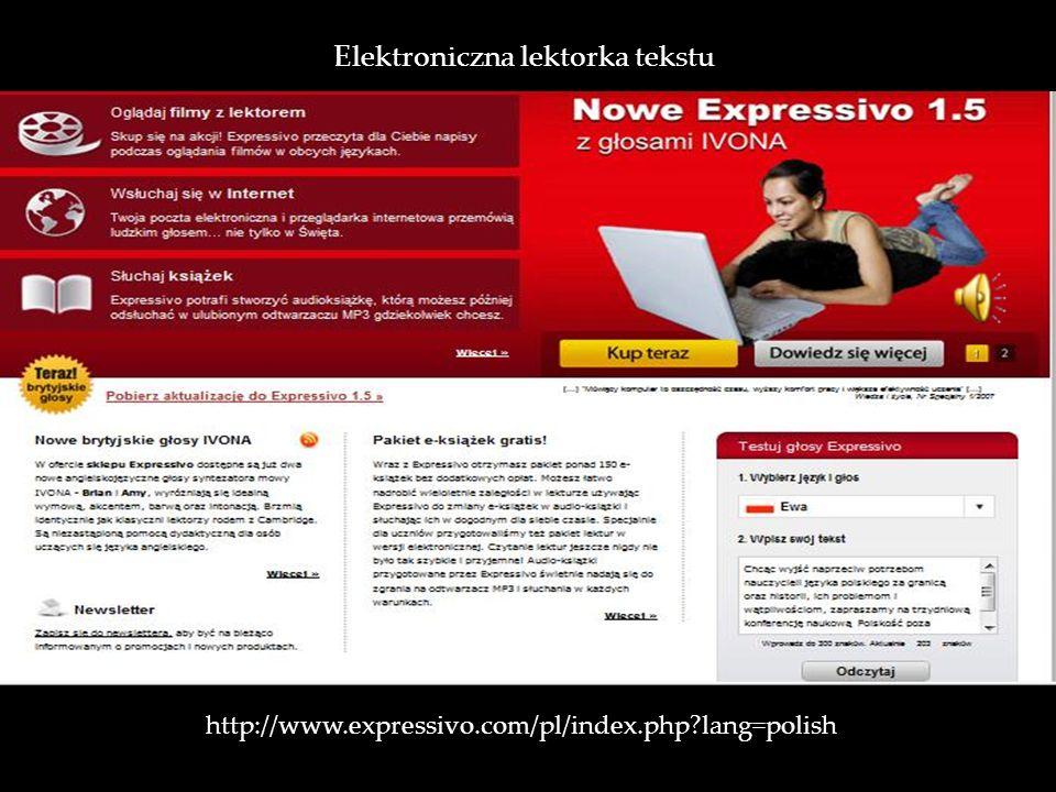 Elektroniczna lektorka tekstu