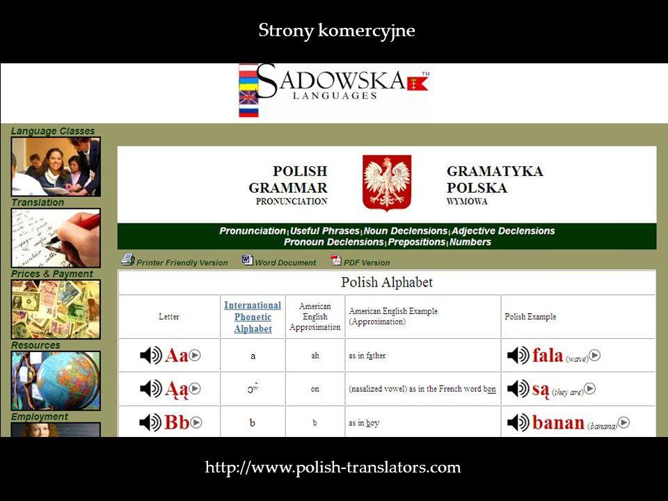 Strony komercyjne http://www.polish-translators.com