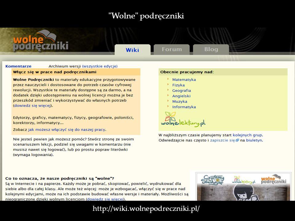 Wolne podręczniki http://wiki.wolnepodreczniki.pl/