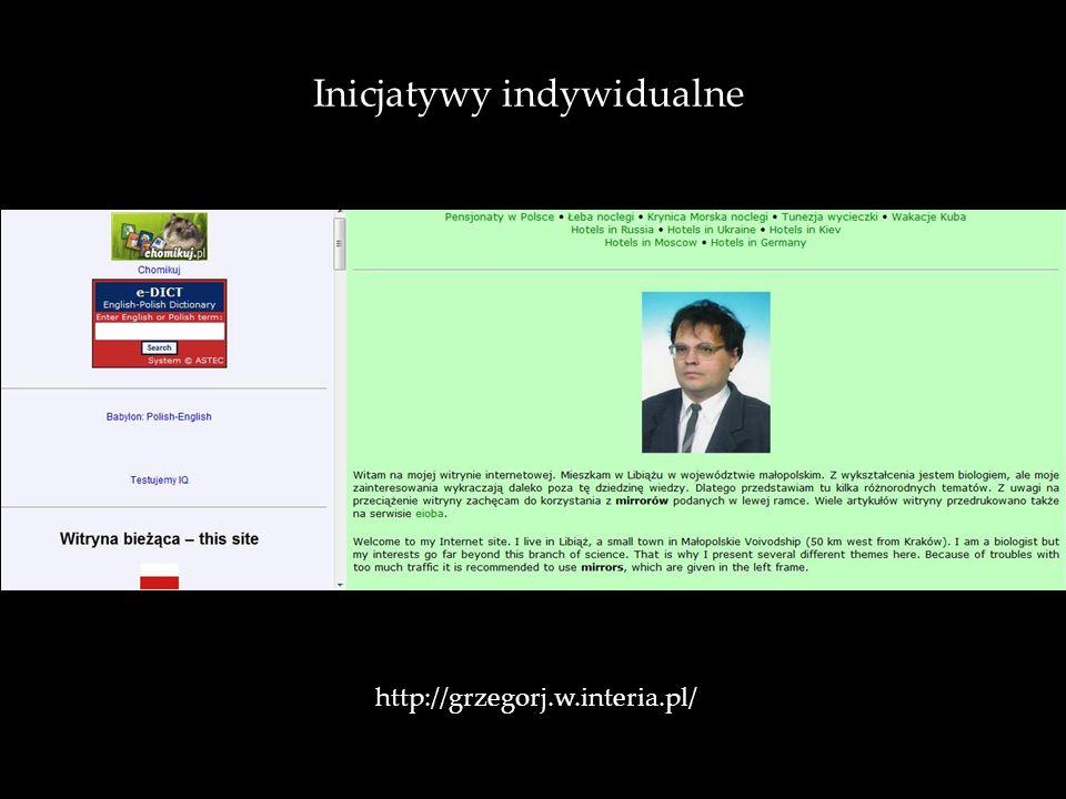 Inicjatywy indywidualne