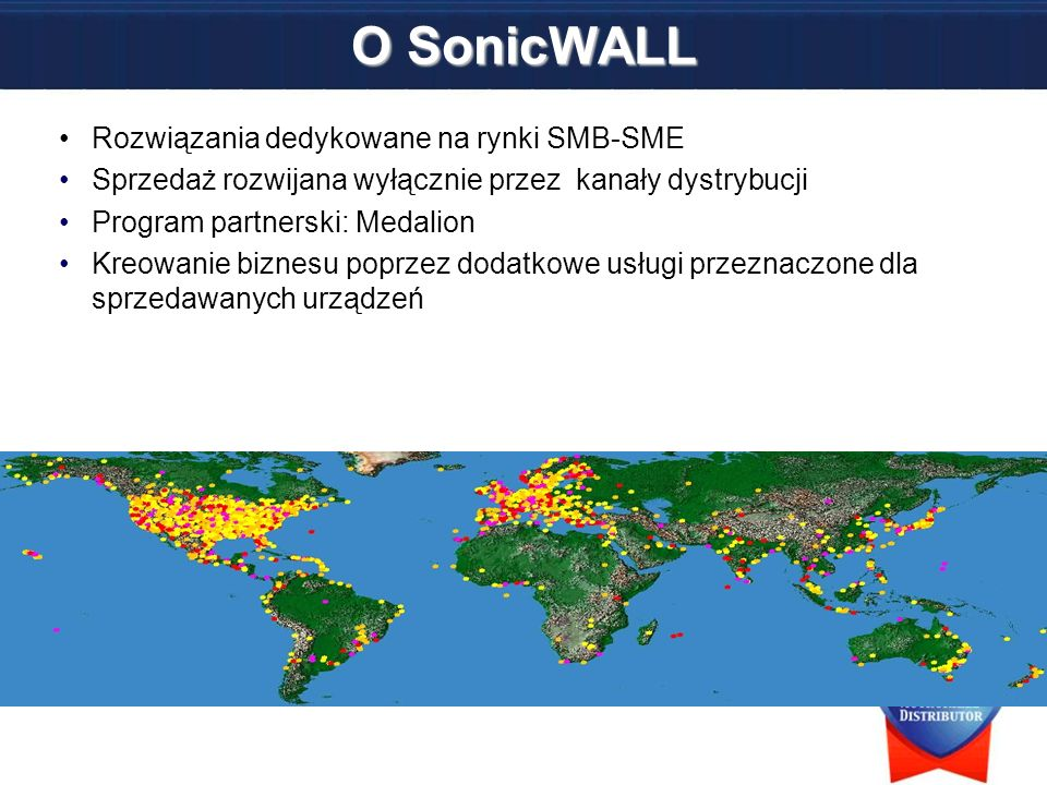O SonicWALL Rozwiązania dedykowane na rynki SMB-SME