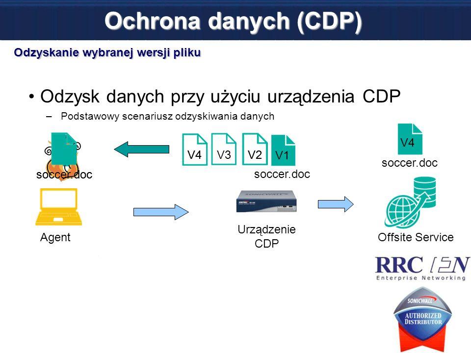 Ochrona danych (CDP) Odzysk danych przy użyciu urządzenia CDP