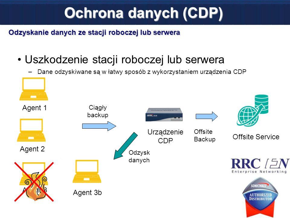Ochrona danych (CDP) Uszkodzenie stacji roboczej lub serwera