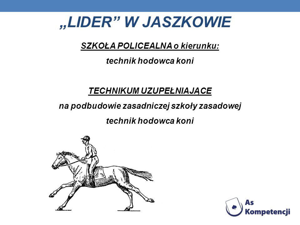 """""""LIDER W JASZKOWIE SZKOŁA POLICEALNA o kierunku: technik hodowca koni"""