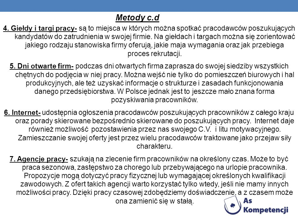 Metody c.d