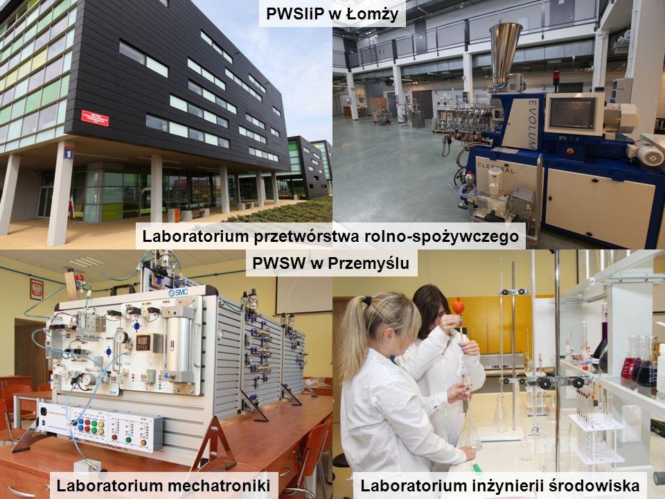 PWSIiP w Łomży Laboratorium przetwórstwa rolno-spożywczego. PWSW w Przemyślu. Laboratorium mechatroniki.
