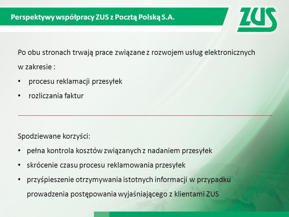 Perspektywy współpracy ZUS z Pocztą Polską S.A.