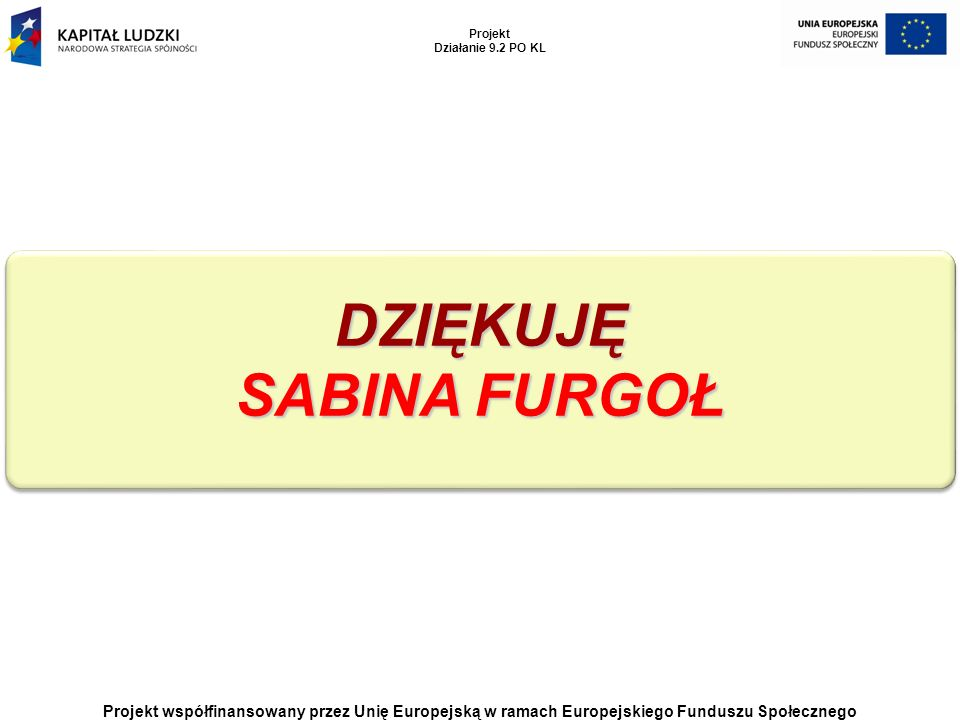 DZIĘKUJĘ SABINA FURGOŁ