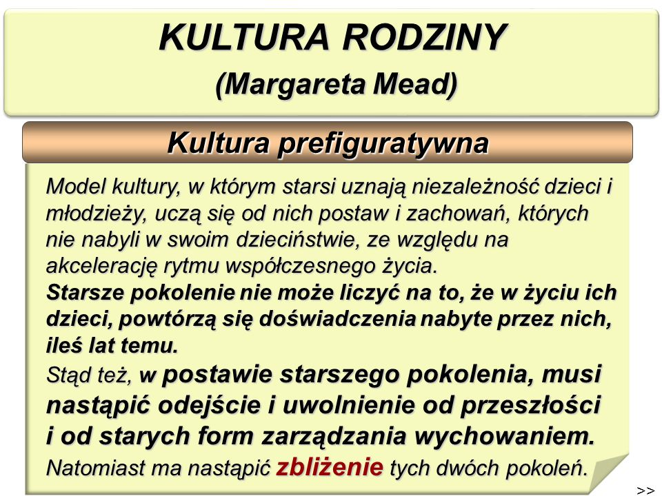 KULTURA RODZINY (Margareta Mead)