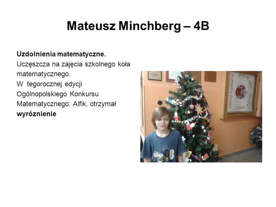 Mateusz Minchberg – 4B Uzdolnienia matematyczne.