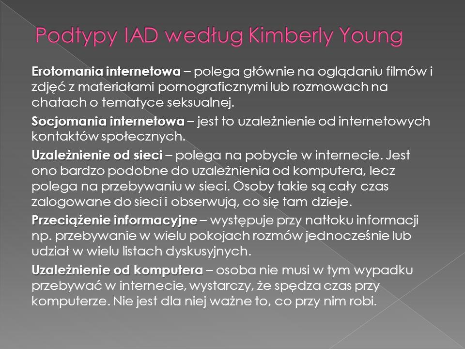 Podtypy IAD według Kimberly Young