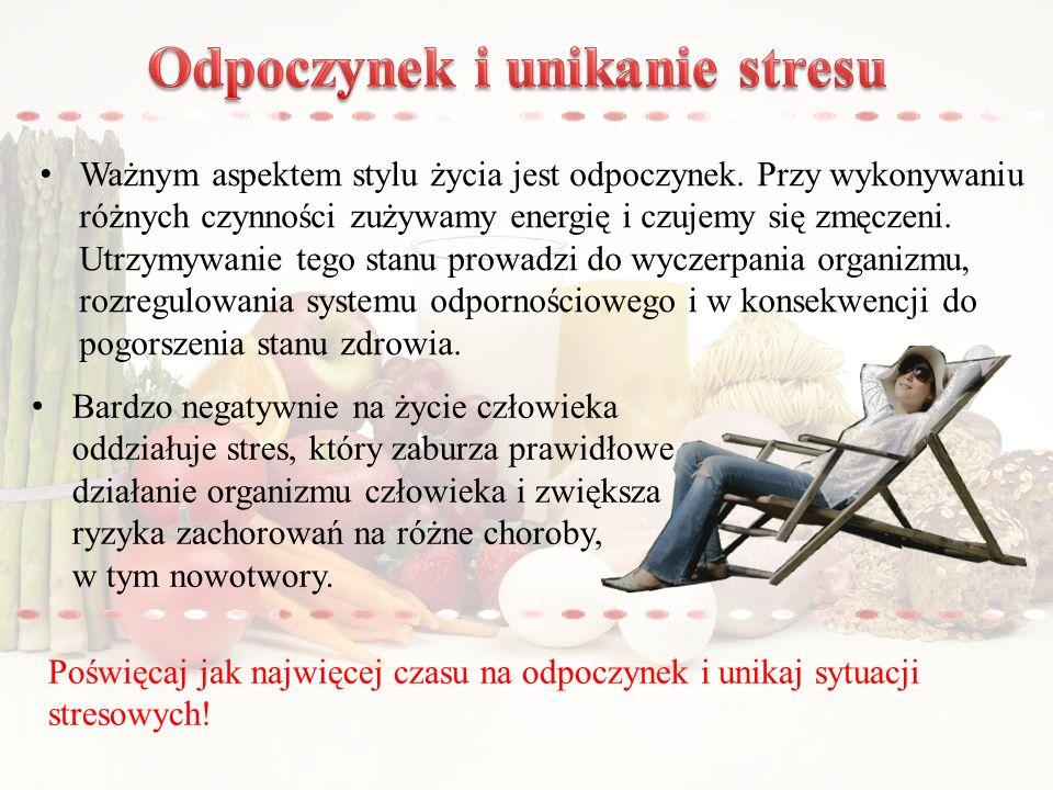 Odpoczynek i unikanie stresu