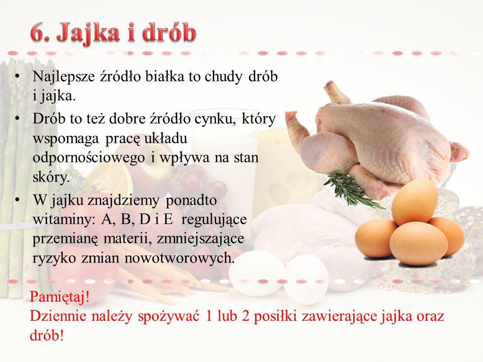 6. Jajka i drób Najlepsze źródło białka to chudy drób i jajka.