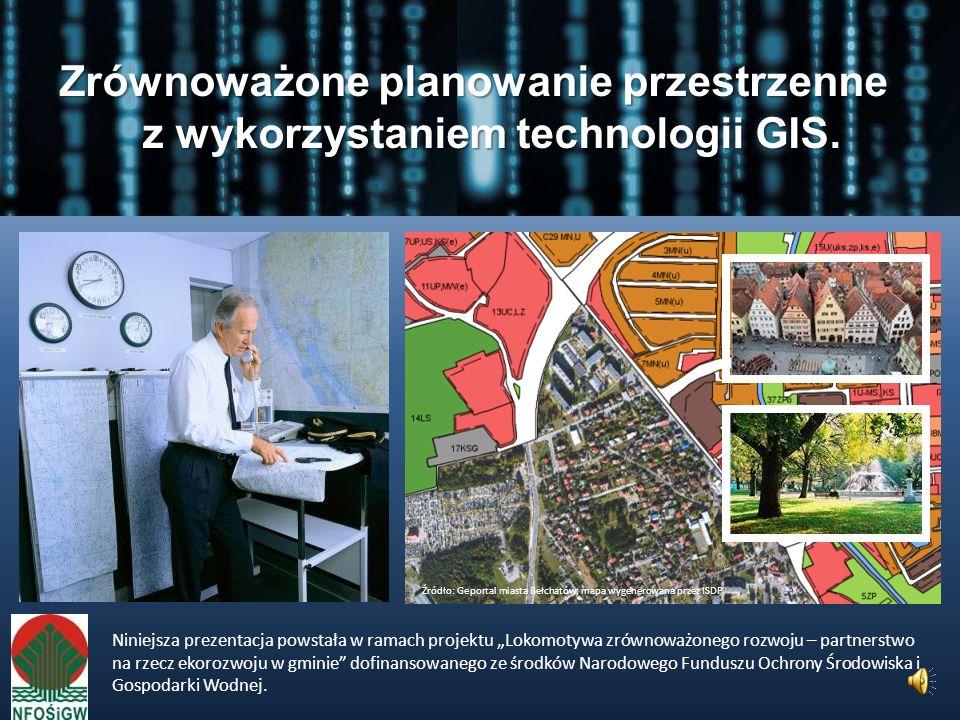 Zrównoważone planowanie przestrzenne z wykorzystaniem technologii GIS.