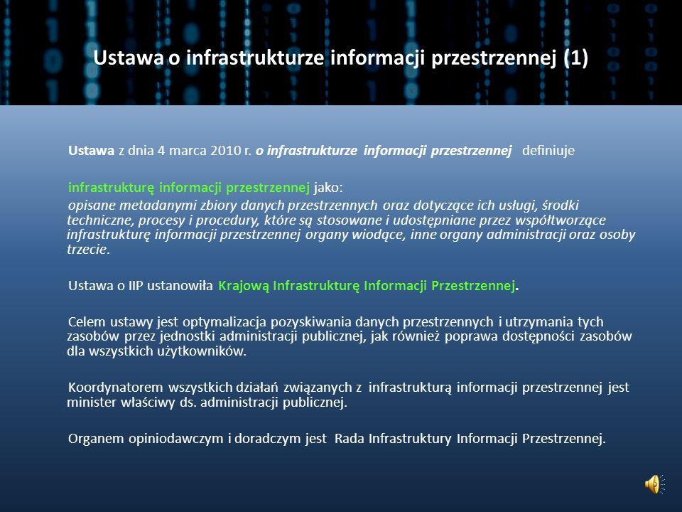 Ustawa o infrastrukturze informacji przestrzennej (1)