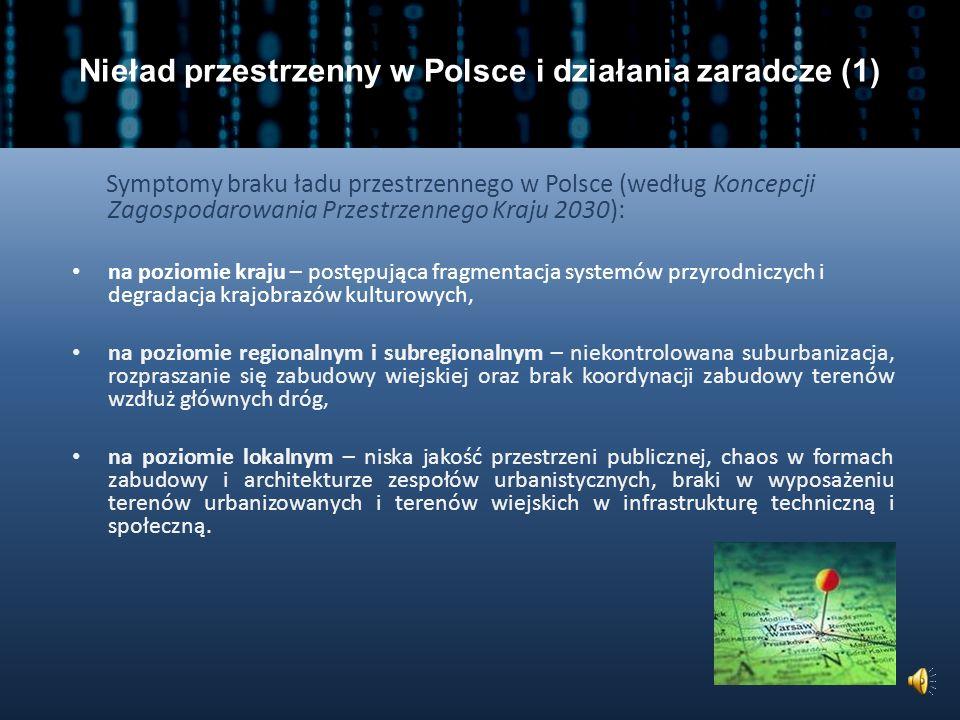 Nieład przestrzenny w Polsce i działania zaradcze (1)