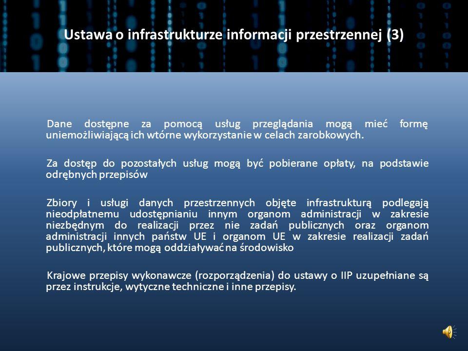 Ustawa o infrastrukturze informacji przestrzennej (3)