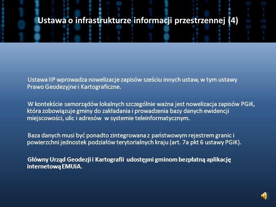 Ustawa o infrastrukturze informacji przestrzennej (4)