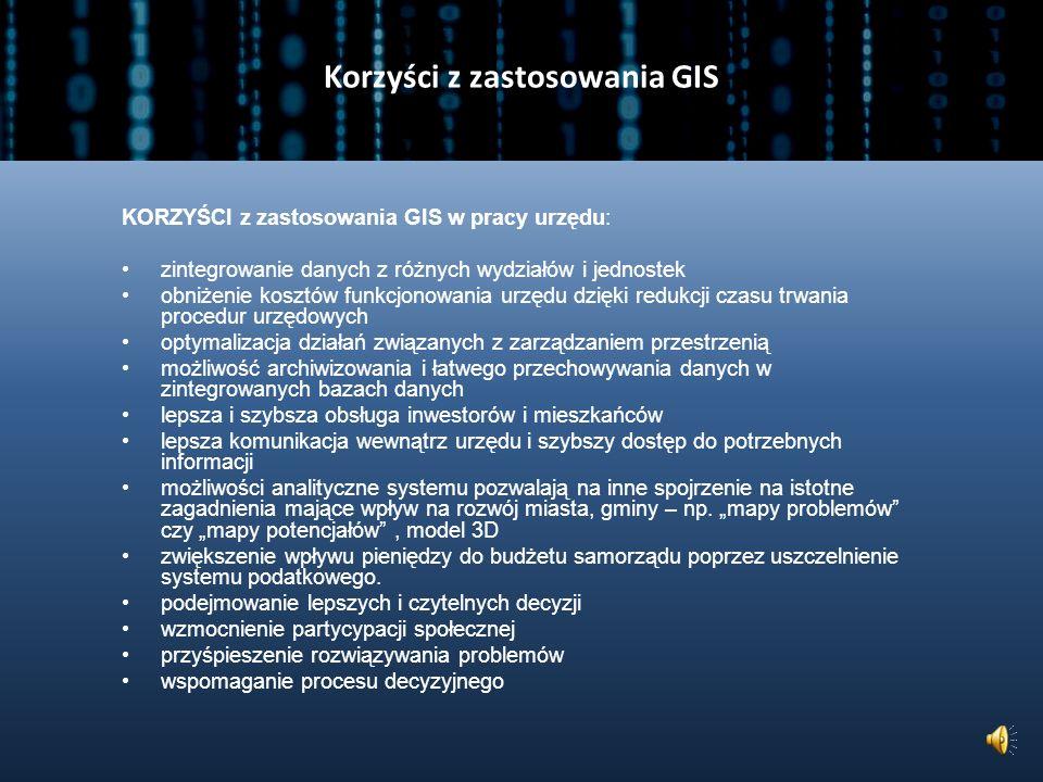 Korzyści z zastosowania GIS