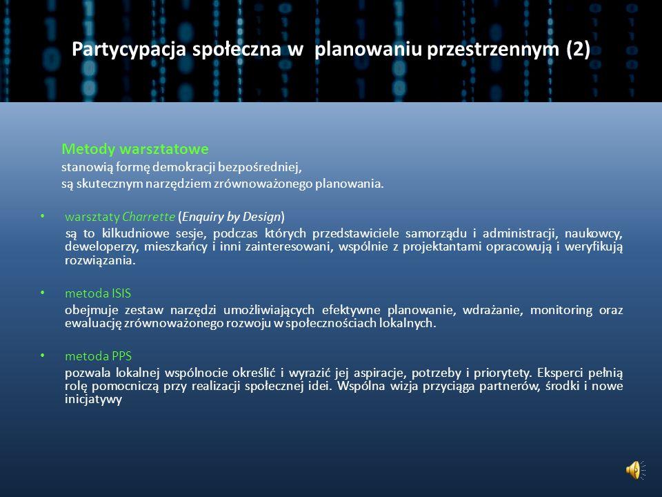 Partycypacja społeczna w planowaniu przestrzennym (2)