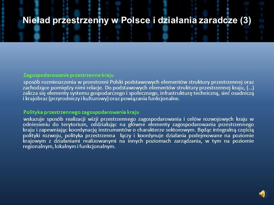 Nieład przestrzenny w Polsce i działania zaradcze (3)