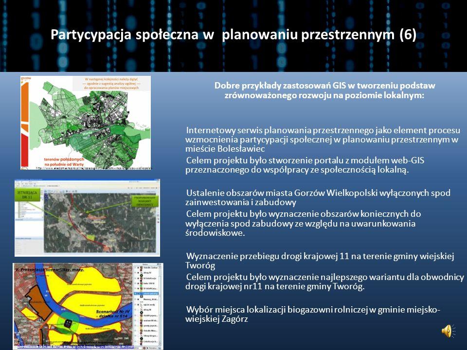 Partycypacja społeczna w planowaniu przestrzennym (6)