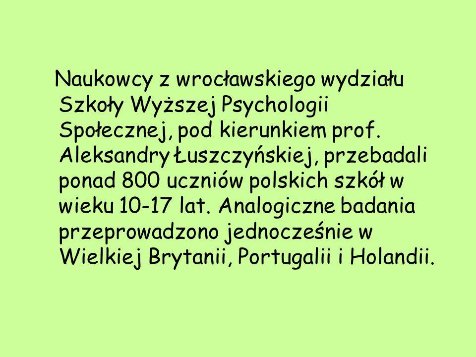 Naukowcy z wrocławskiego wydziału Szkoły Wyższej Psychologii Społecznej, pod kierunkiem prof.