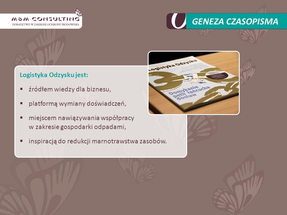 GENEZA CZASOPISMA Logistyka Odzysku jest: źródłem wiedzy dla biznesu,