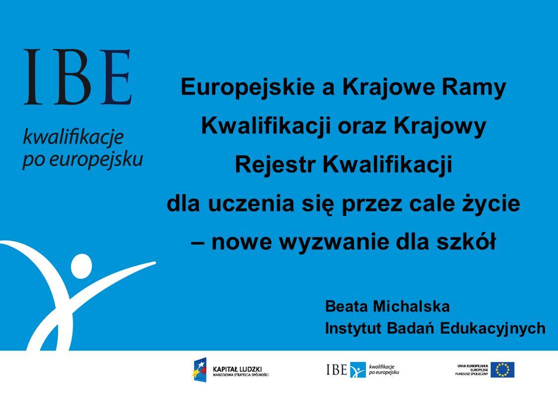 Beata Michalska Instytut Badań Edukacyjnych