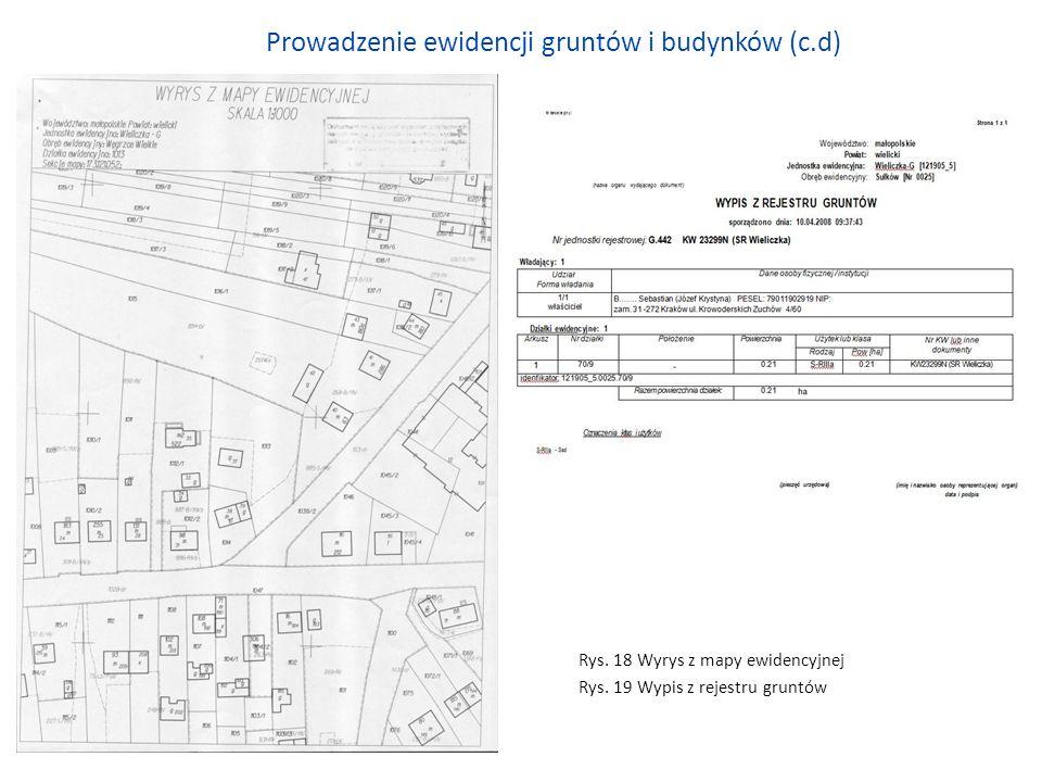 Prowadzenie ewidencji gruntów i budynków (c.d)
