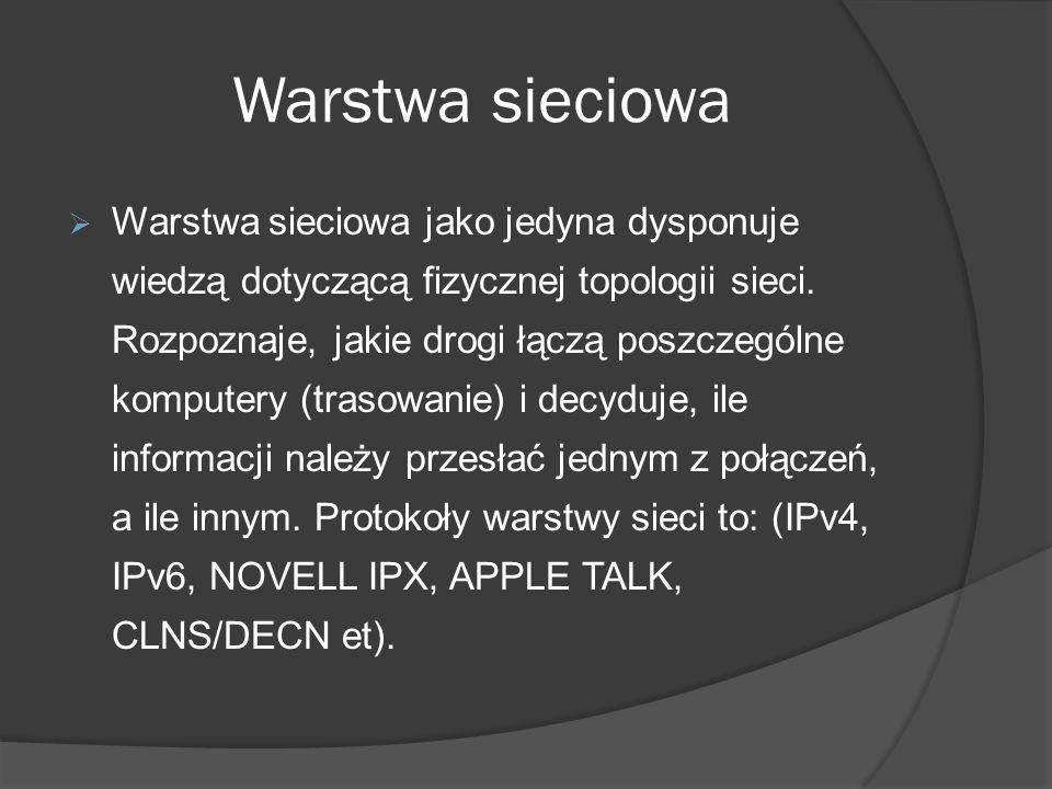 Warstwa sieciowa