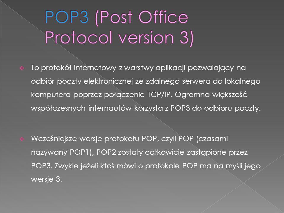 POP3 (Post Office Protocol version 3)