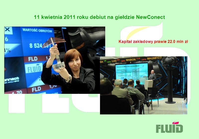 11 kwietnia 2011 roku debiut na giełdzie NewConect