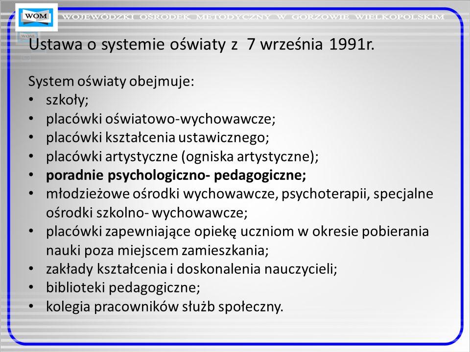 Ustawa o systemie oświaty z 7 września 1991r.