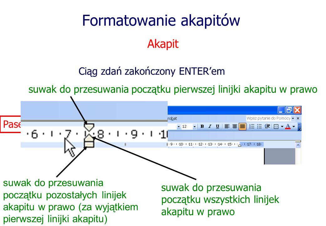 Formatowanie akapitów