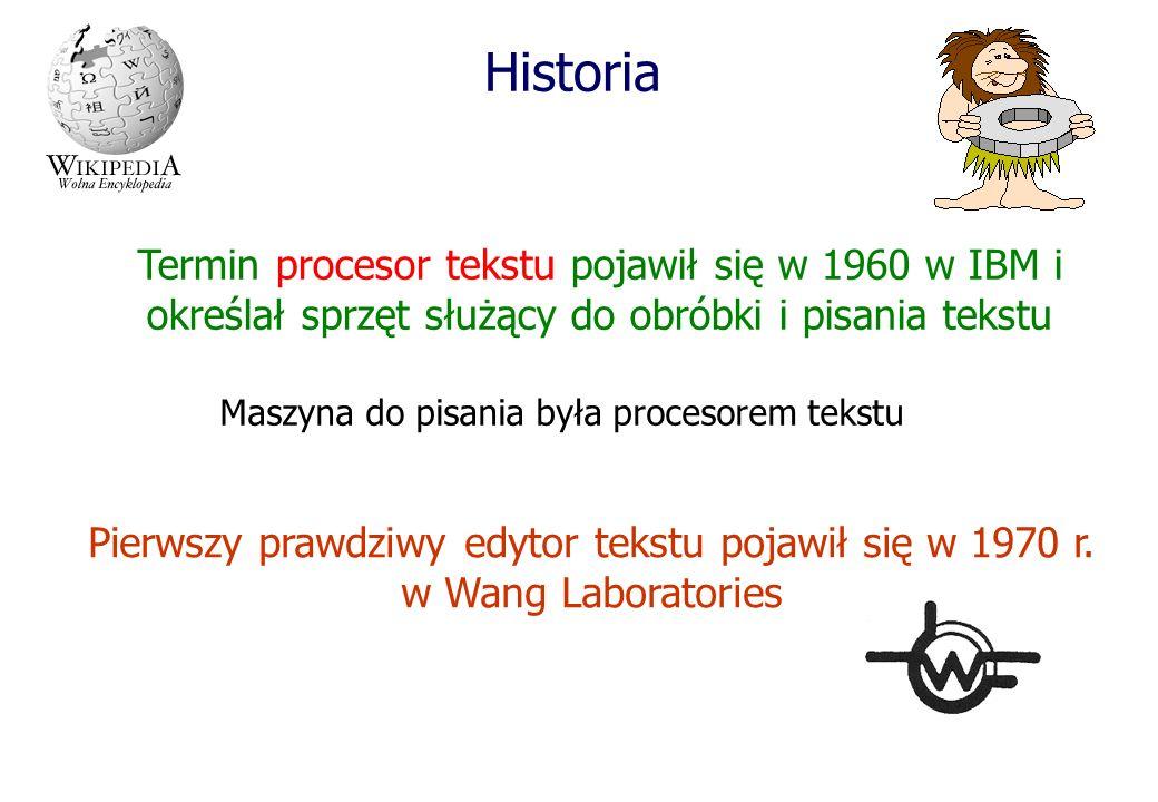 Maszyna do pisania była procesorem tekstu