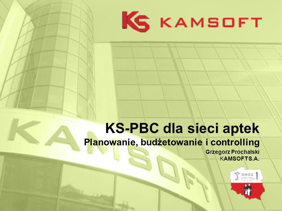 KS-PBC dla sieci aptek Planowanie, budżetowanie i controlling