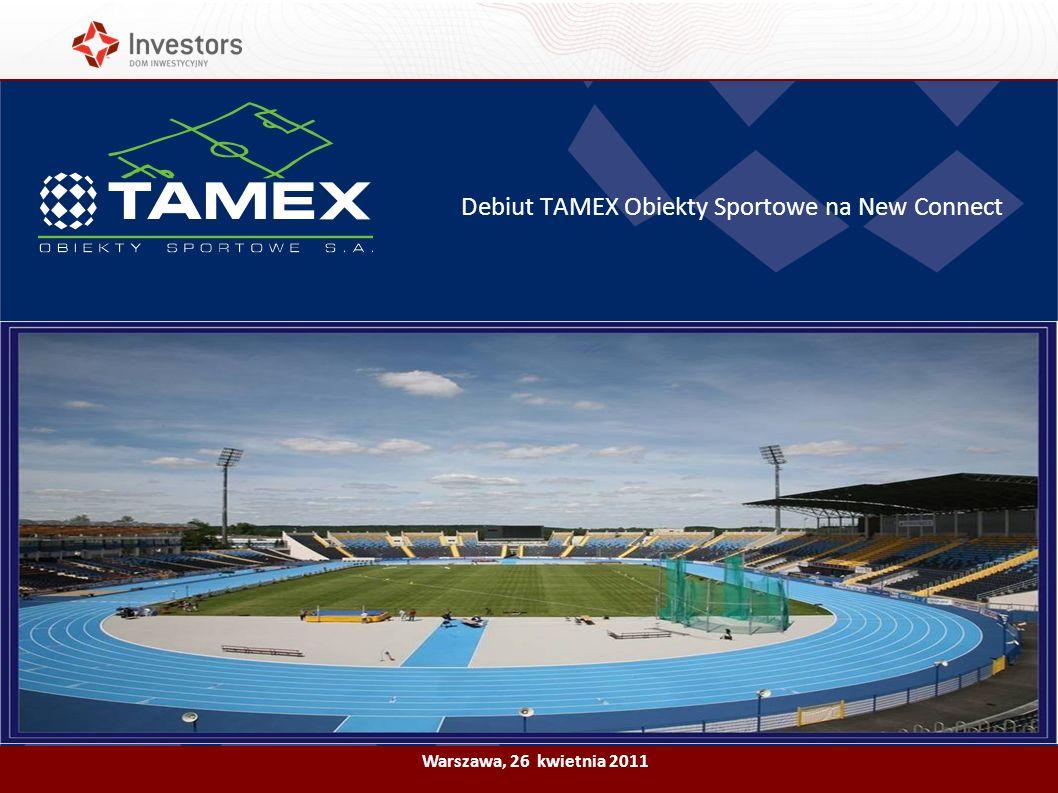 Debiut TAMEX Obiekty Sportowe na New Connect
