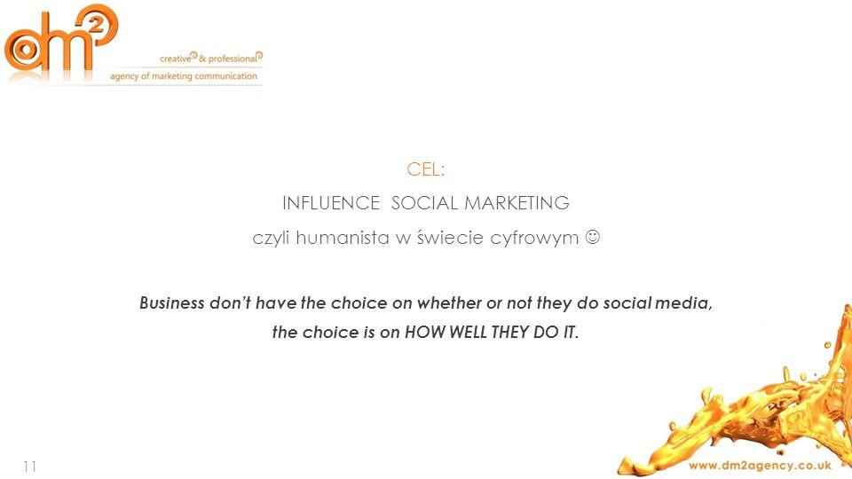 INFLUENCE SOCIAL MARKETING czyli humanista w świecie cyfrowym 