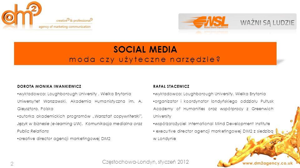 SOCIAL MEDIA moda czy użyteczne narzędzie