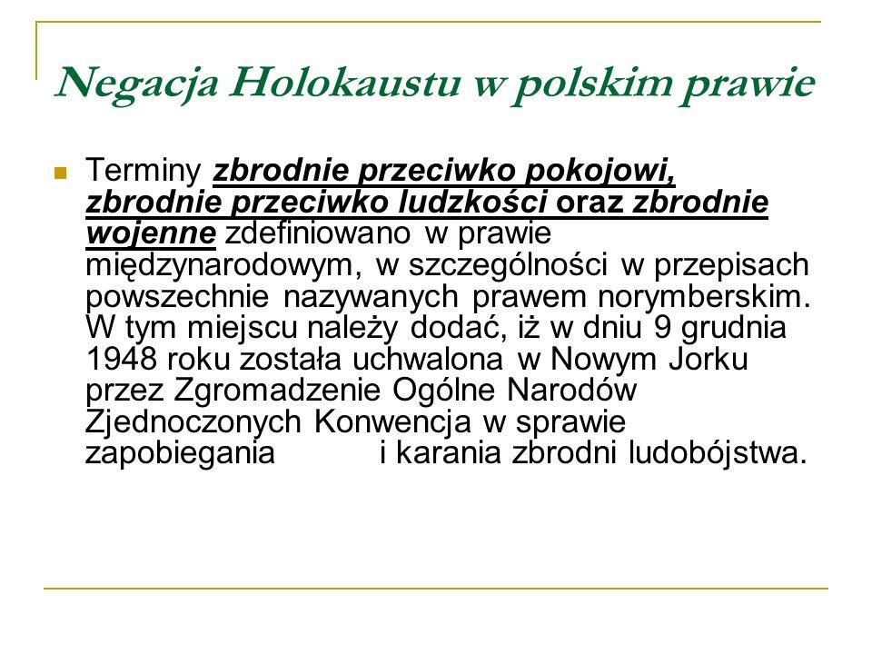 Negacja Holokaustu w polskim prawie