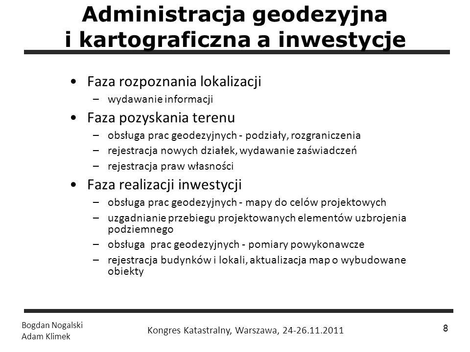 Administracja geodezyjna i kartograficzna a inwestycje