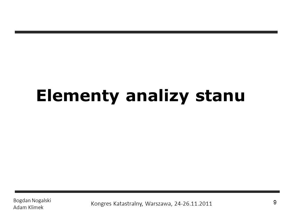 Elementy analizy stanu